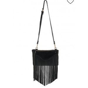 Sancia Black Fringe purse